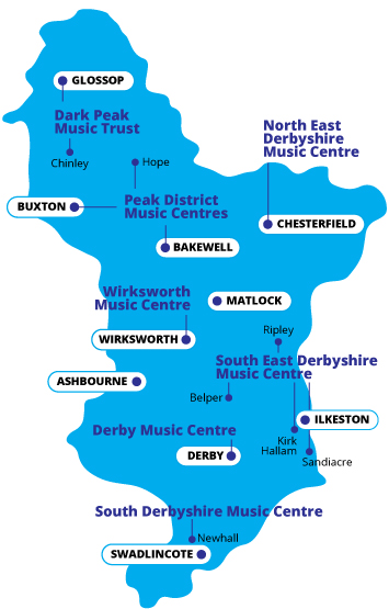 Music centre map